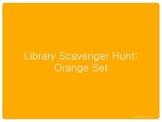 Library Scavenger Hunt: Orange Set