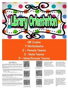 Library Scavenger Hunt Orientation QR Code Style