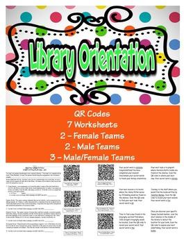 Library Scavenger Hunt Orientation QR Code Style