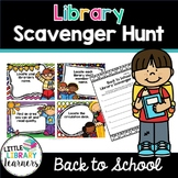 Library Scavenger Hunt- Back to School Themed