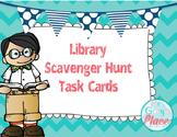 Library Orientation: Scavenger Hunt Task Cards #startfreshbts