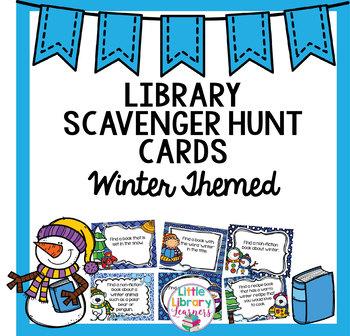 Library Scavenger Hunt- Winter Themed