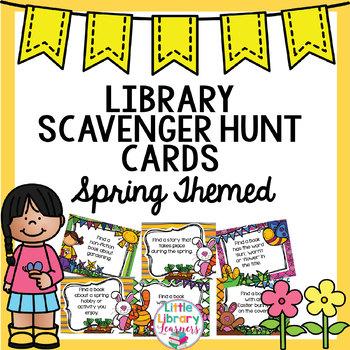 Library Scavenger Hunt- Spring Themed