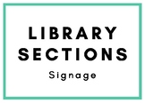Library Sections Signage