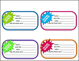 Library Shelf Book Recommendation Tags for Teachers/Staff