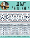 Library Shelf Labels Fiction/Dewey 000-900 Navy Coral CHEV