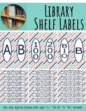 Library Shelf Labels Fiction/Dewey 000-900 Navy Coral STRI
