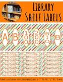 Library Shelf Labels Fiction/Dewey 000-900 Primary Colors Stripes Orange Border
