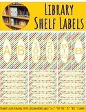 Library Shelf Labels Fiction/Dewey 000-900 Primary Colors Stripes Yellow Border