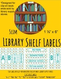Library Shelf Labels for Clip-On Book Ends