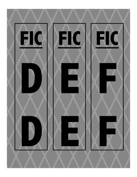 Library Shelf Markers FIC Section: Grey Diamonds