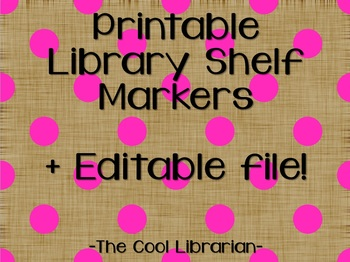 Library Shelf Markers - Polka Dots