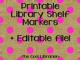 Library Shelf Markers - Polka Dots