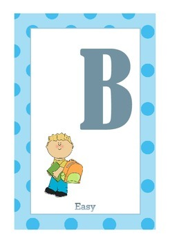 Library Shelf Signs - Easy Readers - Blue Dot