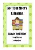 Library Shelf Signs - Easy Readers - Green Dot