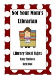 Library Shelf Signs - Easy Readers - Red Dot