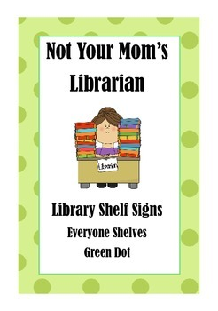 Library Shelf Signs - Everyone Section - Green Dot