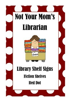 Library Shelf Signs - Fiction - Red Dot