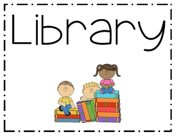 Library Sign *FREEBIE*