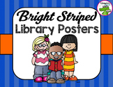 Library Sign Bright Stripes Poster Pack