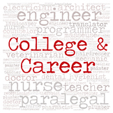 Library Sign:  COLLEGE & CAREER