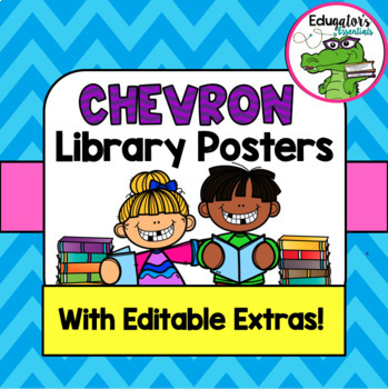 Library Sign Chevron Poster Pack