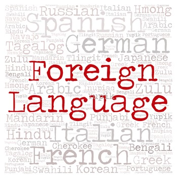 Library Sign:  Foreign Language