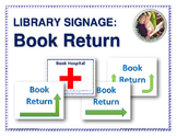 Library Printable Signage: Book Return
