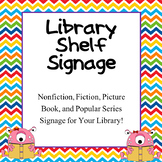 Library Signage {Editable; Helps students find popular ser