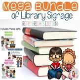 Library Signage MEGA BUNDLE - Retro Brights (Editable Versions Included)