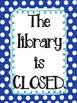 Library Signage Poster Set - Genre and Front Door