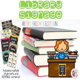 Library Signage - Retro Brights (Editable Versions Included)