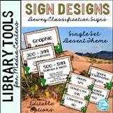 Dewey Decimal Posters for Library Media Center Desert Theme