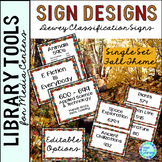 Dewey Decimal Posters for Library Media Center Fall Theme