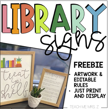 Library Signs - Freebie