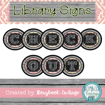 Library Signs: Shabby Chic Circulation Signs