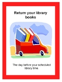 Library Signs - Visuals for Book Exchange Procedures