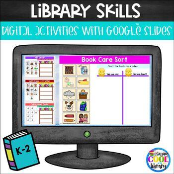 Library Skills Activities K-2 for Google Slides