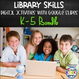 Library Skills Activities for Google Slides - BUNDLE - Distance Learning
