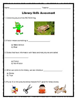 Library Skills Assessment and Review