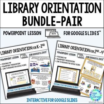 Library Orientation PowerPoint Lesson BUNDLE for Media Center