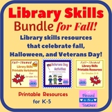 Library Skills Bundle for Autumn / Fall