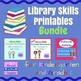Library Skills Bundle for Kindergarten and First Grade