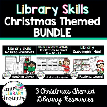 Library Skills Christmas Activity BUNDLE