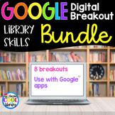 Library Skills Digital Breakout BUNDLE | Distance Learning