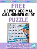 Library Skills FREE Nonfiction Call Number Guide Puzzle
