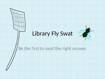 Library Skills Fly Swat Game
