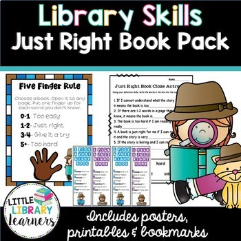 Library Skills- Just Right Book Pack