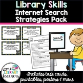 Library Skills Internet Search Strategies Pack