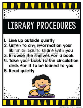 Library Skills- Library Orientation and Routines Pack